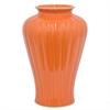 """Benzara 12"""" Orange Ceramic Vase, Orange"""