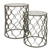 Benzara Marvelous Metal Table Set With Glass