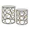 Benzara Elegant Metal Table Beveled Mirror Top