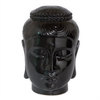 "Benzara 29354 11"" Ceramic Buddha Head, Black"