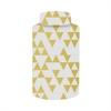 "Benzara 10.25"" White and Golden Ceramic Jar, White and Gold"