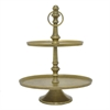"Benzara 15"" Antique Brass Plate Stand, Antique Brass"