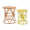 32407 Cool Metal Accent Table Set Of 2