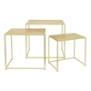 Benzara Modish Metal Wood Accent Table Set Of 3