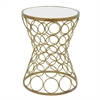 Benzara Robust Accent Table With Mirror Top