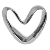 Benzara Modish Ceramic Heart Art Deco- Silver