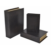 Benzara Attractive Set Of 3 Wooden Book Box