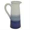 "Benzara 12.75"" Blue and White Ceramic Vase, Blue and White"