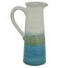 "Benzara 14.5"" Green and White Ceramic Vase"