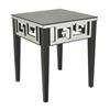 Benzara Pretty Mirrored Accent Table