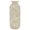 """Benzara 14.5"""" Ivory Ceramic Vase, Ivory"""