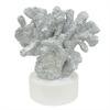 """Benzara 37583 13.5"""" decorative Coral, Silver"""