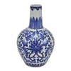 Benzara Striking Ceramic Vase - Blue & White