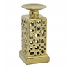 Benzara Stunning Ceramic Candle Holder - Gold