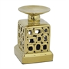 Benzara Amazing Ceramic Candle Holder - Gold