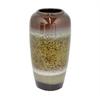 """Benzara 12.25"""" Tan Mix Ceramic Vase, Tan Mix"""