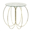 Benzara Outstanding Metal Glass Table