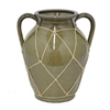 "Benzara 10.5"" Ceramic Flower Pot, Olive"