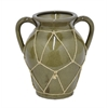 "Benzara 9"" Ceramic Flower Pot, Olive"