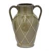 """Benzara 13"""" Ceramic Flower Pot, Olive"""