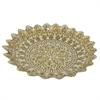"Benzara 16"" Golden Glass Votive Bowl, Gold"