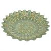 "Benzara 16"" Green Glass Votive Bowl, Green"