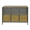 """Benzara 42284 25.5"""" Wood Cabinet, Brown"""