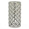 """Benzara 12"""" Silver Ceramic Vase, Silver"""