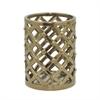 "Benzara 8"" Bronze Ceramic Vase, Bronze"