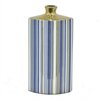 "Benzara 11.5"" Blue and Golden Ceramic Vase, Blue and Gold"