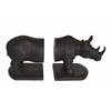 Benzara Whimsical Set Of 2 Rhinoceros Book Ends