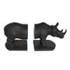 Benzara Whimsical Set Of 2 Rhinoceros Book Ends