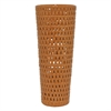 "Benzara 18.5"" Orange Ceramic Vase, Orange"