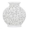 """Benzara 12"""" White Ceramic Vase, White"""