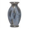"Benzara 14.5"" Dark Grey Ceramic Vase, Dark Grey"