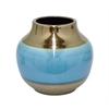 """Benzara 44088 15"""" Ceramic Vase, Multicolor"""