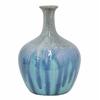 Attractive Ceramic Vase - Blue Drip