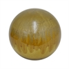 "Benzara 8.75"" Brown Drip Ceramic Orb, Brown Drip"