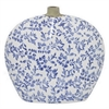 "Benzara 11"" Blue and White Ceramic Vase, Blue and White"