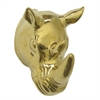 "Benzara 9"" Golden Ceramic Rhino Head, Gold"