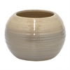 "Benzara 7.5"" Brown Ceramic Pot, Brown"