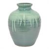 "Benzara 11"" Green Ceramic Vase, Green"