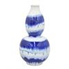 """Benzara 14.5"""" Blue and White Ceramic Vase"""