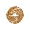 "Benzara 60489 6"" Metal Orb, Copper"