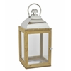 Benzara Wood/ Metal Lantern - Square