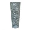 """Benzara 18.5"""" Blue Ceramic Vase, Blue"""