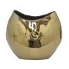 "Benzara 62957 9.5"" Copper Ceramic Planter, Copper"