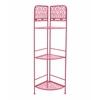 Benzara Corner Rack - Pink