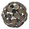 "Benzara 63938 11.75"" Metal Orb, Copper"