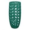 "Benzara 11"" Mint Ceramic Vase Pierced, Mint"